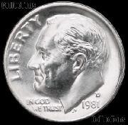 1981-D Roosevelt Dime Gem BU (Brilliant Uncirculated)