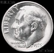 1975 Roosevelt Dime Gem BU (Brilliant Uncirculated)