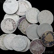 1893 Liberty Head V Nickel - Better Date Filler