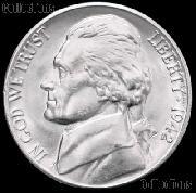 1942 Jefferson Nickel Gem BU (Brilliant Uncirculated)