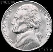 1951 Jefferson Nickel Gem BU (Brilliant Uncirculated)