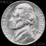 1954 Jefferson Nickel Gem BU (Brilliant Uncirculated)