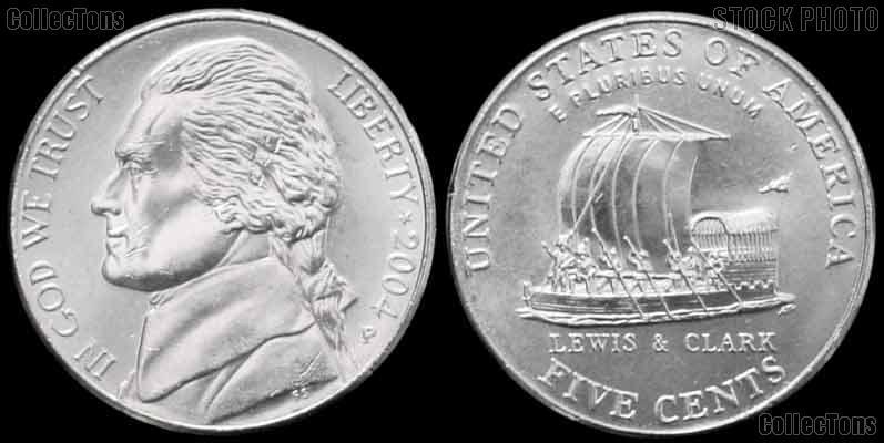 2004-P Jefferson Nickel GEM BU Keelboat Design from ...