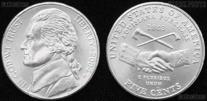 2004-P Jefferson Nickel GEM BU Peace Medal Design from ...