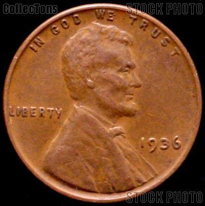 1936 Wheat Penny Lincoln Wheat Cent Circulated G 4 Or