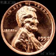 1957 Wheat Penny Lincoln Wheat Cent Gem PROOF RED
