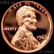 1963 Lincoln Memorial Penny Lincoln Cent Gem PROOF RED Penny