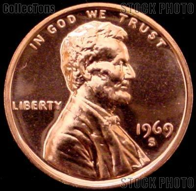 1969 S Lincoln Memorial Penny Lincoln Cent Gem Proof Red Penny 1 99