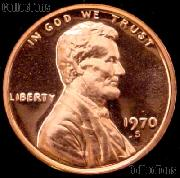 1970-S Large Date Lincoln Memorial Penny Lincoln Cent Gem PROOF RED Penny