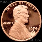 1974-S Lincoln Memorial Penny Lincoln Cent Gem PROOF RED Penny