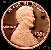 1981-S Lincoln Memorial Penny Lincoln Cent Gem PROOF RED Penny