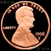 1996-S Lincoln Memorial Penny Lincoln Cent Gem PROOF RED Penny