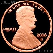 2008-S Lincoln Memorial Penny Lincoln Cent Gem PROOF RED Penny