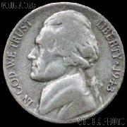 1943-D Jefferson Silver War Nickel Circulated G-4 or Better