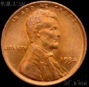 1934 Lincoln Wheat Cent GEM BU RED Penny for Album