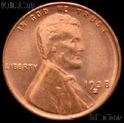 1938-S Lincoln Wheat Cent GEM BU RED Penny for Album