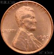 1940-S Lincoln Wheat Cent GEM BU RED Penny for Album