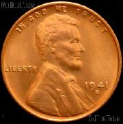 1941-S Lincoln Wheat Cent GEM BU RED Penny for Album