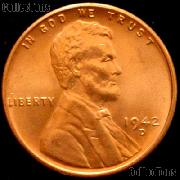 1942-D Lincoln Wheat Cent GEM BU RED Penny for Album