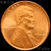 1945 Lincoln Wheat Cent GEM BU RED Penny for Album
