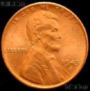 1945-S Lincoln Wheat Cent GEM BU RED Penny for Album