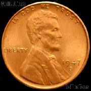 1947-S Lincoln Wheat Cent GEM BU RED Penny for Album