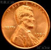 1959-D Lincoln Memorial Cent GEM BU RED Penny