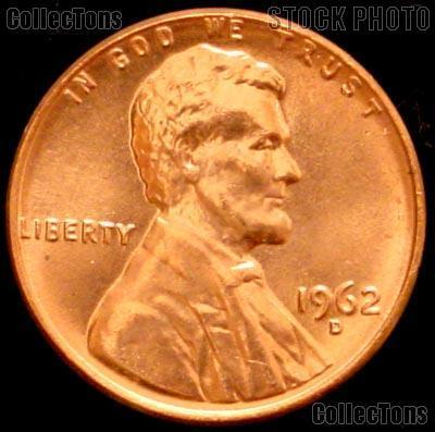1962-D Lincoln Memorial Cent GEM BU RED Penny