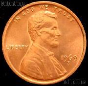 1969-S Lincoln Memorial Cent GEM BU RED Penny