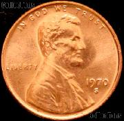 1970-S Small Date Lincoln Memorial Cent GEM BU RED