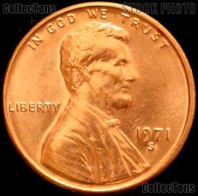 1971-S Lincoln Memorial Cent GEM BU RED Penny