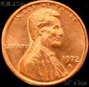 1972-D Lincoln Memorial Cent GEM BU RED Penny