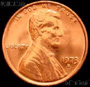 1973-D Lincoln Memorial Cent GEM BU RED Penny
