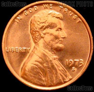 1973-S Lincoln Memorial Cent GEM BU RED Penny