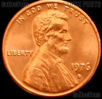 1976-D Lincoln Memorial Cent GEM BU RED Penny