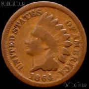 1864 Indian Head Cent NO L Variety 3 Bronze G-4 or Better Indian Penny