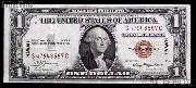 One Dollar Bill Hawaii Note Brown Seal US Currency Good or Better