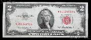 Two Dollar Bill Red Seal Series 1953 US Currency