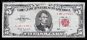 Five Dollar Bill Red Seal Series 1963 US Currency Good or Better