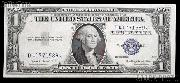 One Dollar Bill Silver Certificate NO MOTTO Series 1935 US Currency Good or Better