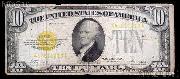 Ten Dollar Bill Gold Certificate Series 1928 US Currency