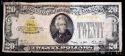 Twenty Dollar Bill Gold Certificate Series 1928 US Currency