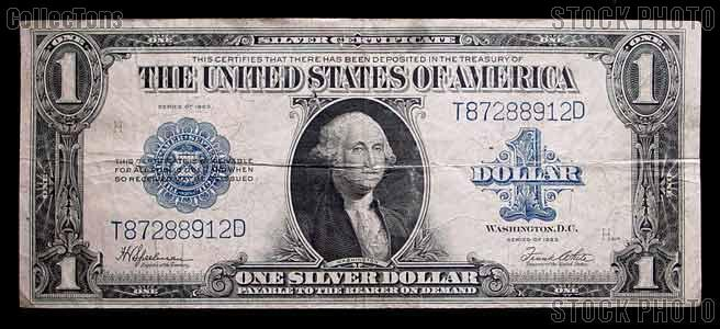 One Dollar Bill Silver Certificate Large Size Series 1923