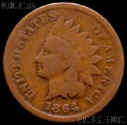 1864 Indian Head Cent WITH L Variety 3 Bronze G-4 or Better Indian Penny