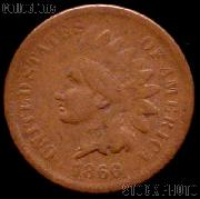 1866 Indian Head Cent Variety 3 Bronze G-4 or Better Indian Penny