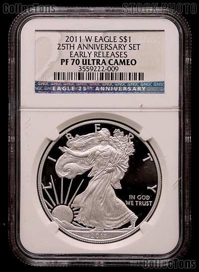 2011 W American Silver Eagle Proof From 25th Anniversary