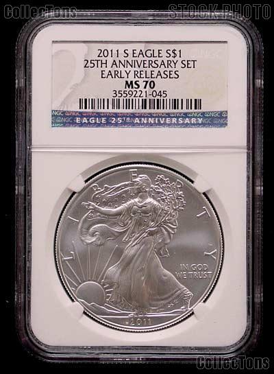 2011 S American Silver Eagle Burnished From 25th