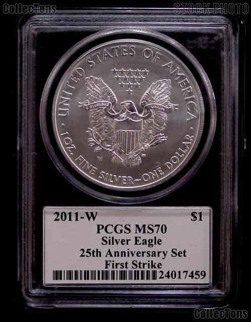 2011 W American Silver Eagle Burnished From 25th