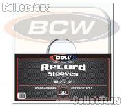 Paper Record Sleeves for 33 RPM Albums by BCW - 50 Pack Round Corners