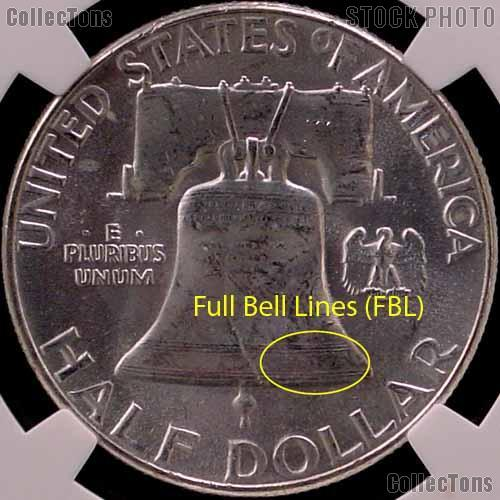 1957 D Franklin Silver Half Dollar In Ngc Ms 64 Fbl Full